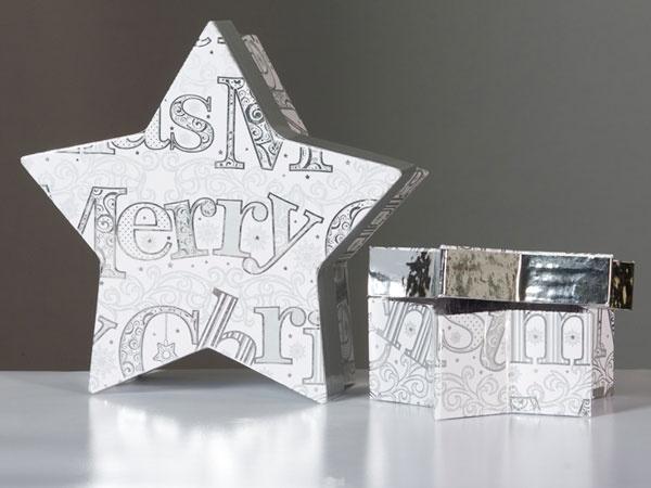 Geschenkkarton Stern 18 cm
