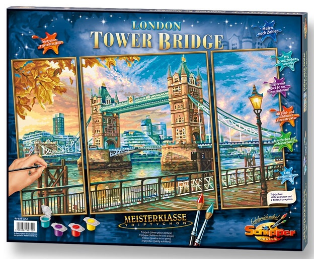 Schipper Malen nach Zahlen Tower Bridge in London Triptychon