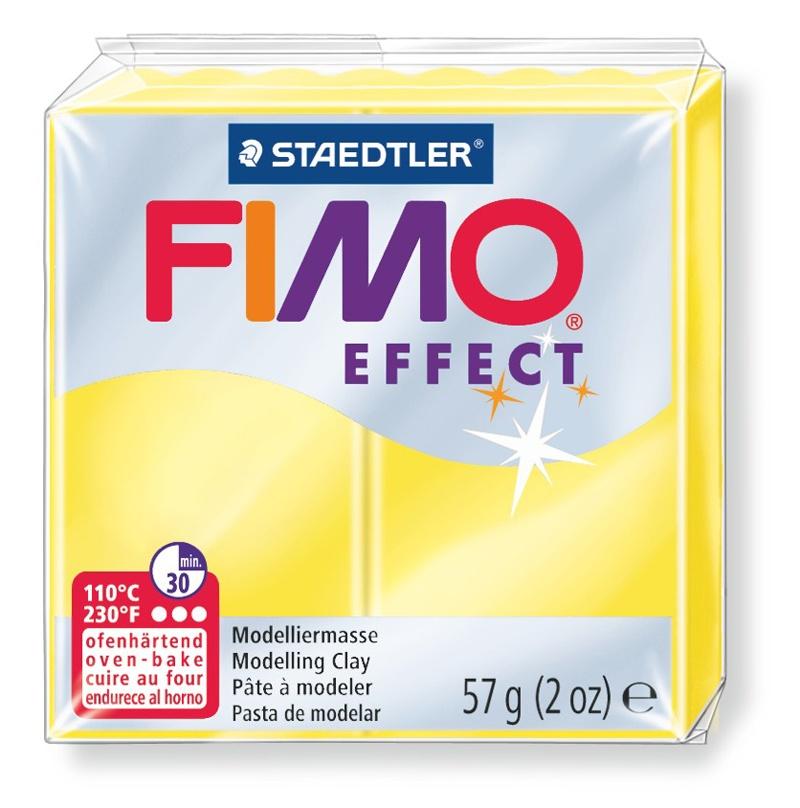 Staedtler Modelliermasse Fimo effect transluzent gelb 57 g