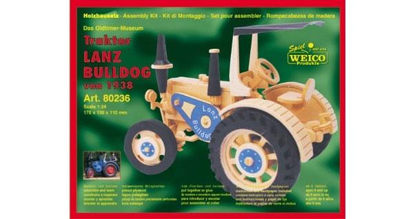 Traktor LANZ BULLDOG, Holz - Oldtimer