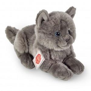 Teddy Hermann Karthäuser Katze liegend 20 cm