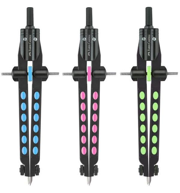 Faber Castell Schnellverstellzirkel Factory Neon sort.