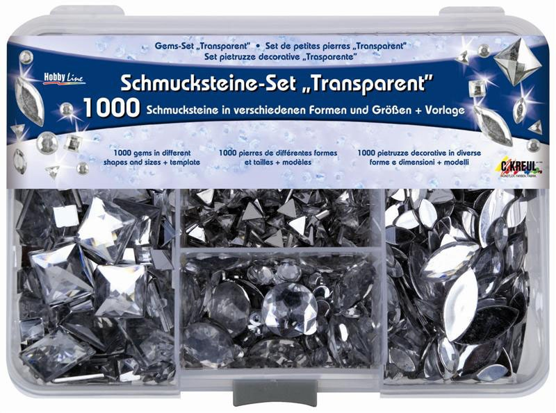 Hobby Line Schmucksteine-Set Transparent