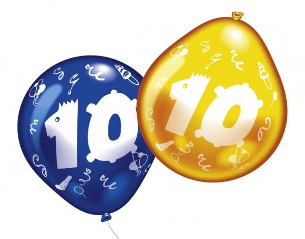 Luftballons mit Zahl 10 10 Stück