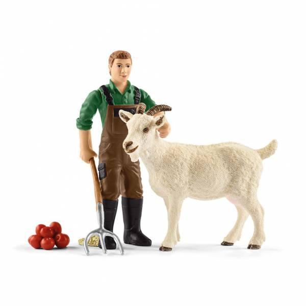 Schleich Farm World Bauer mit Ziege 42375