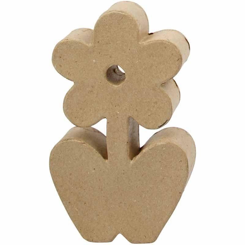 Pappmaché-Figur Blume zum Selbstgestalten