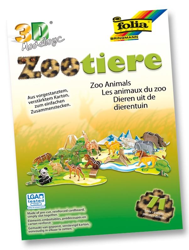 Bastelset 3D Modellogic  Zootiere 71 Teile