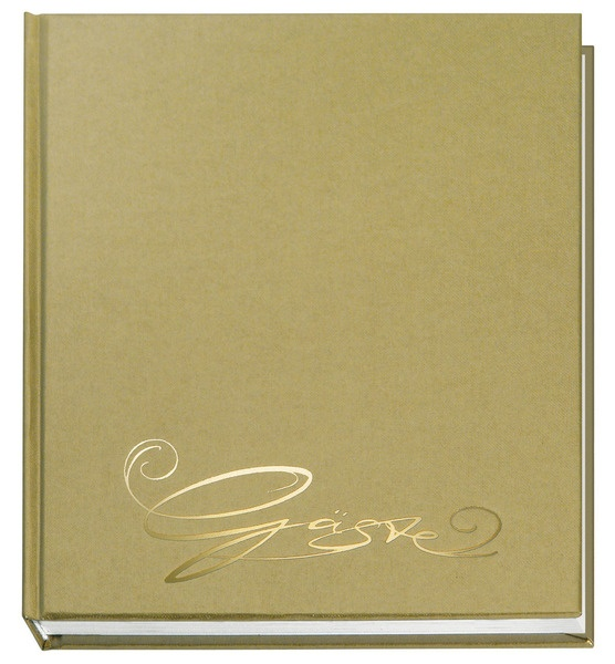 Gästebuch Classic gold mit Prägung
