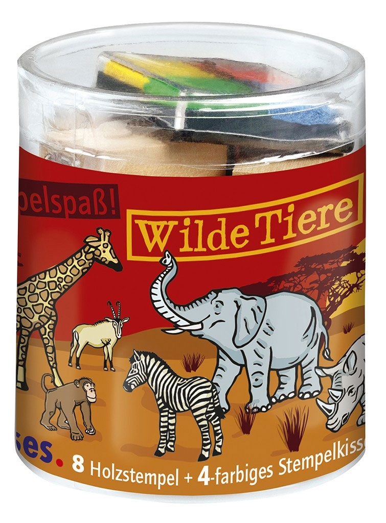 Stempelspaß-Set Wilde Tiere