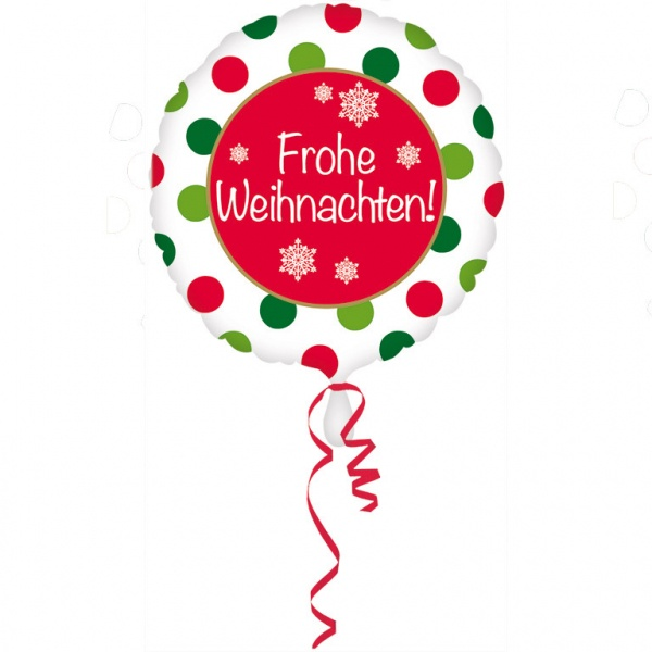 Weihnachten Folienballon  Frohe Weihnachten 43 cm