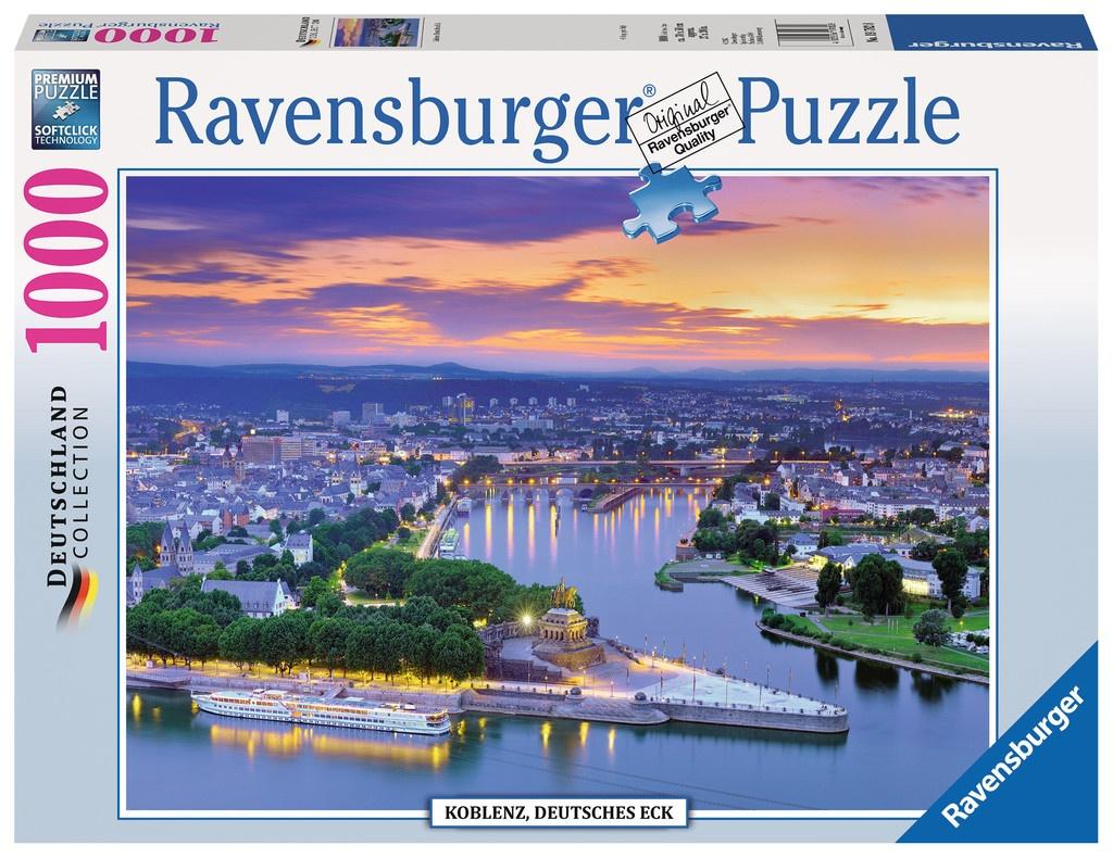 Ravensburger Puzzle Koblenz Deutsches Eck 1000 Teile