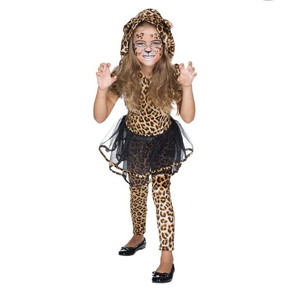 Kostüm Leoparden Kleidchen 104