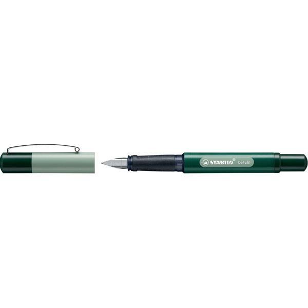 Stabilo Füllhalter beFab Duo Colors schiefer/grün