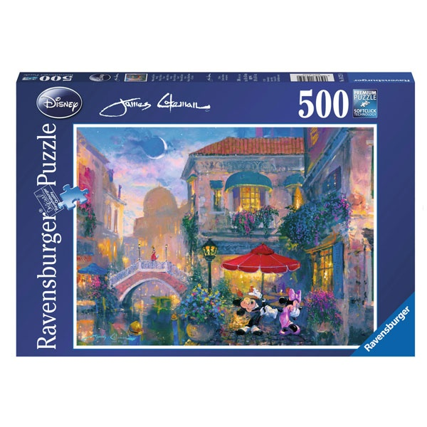 Puzzle Disney Minnie und Mickey in Venedig 500 Teile