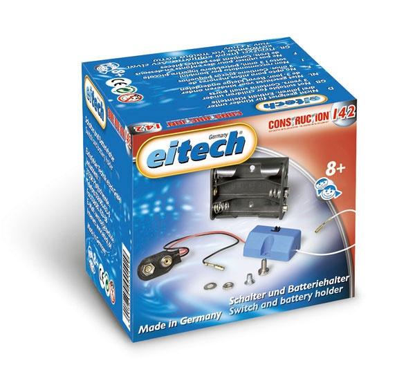 eitech Metallbaukasten C142 Zubehör Schalter Batteriehalter