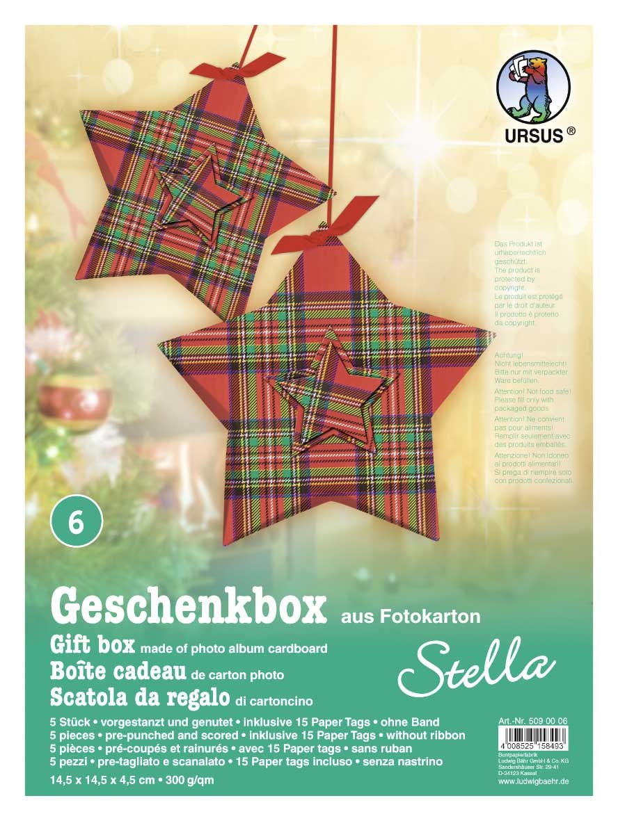Bastelmappe Geschenkbox Stella  Motiv 06