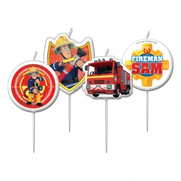 Feuerwehrmann Sam Mini-Figurenkerzen