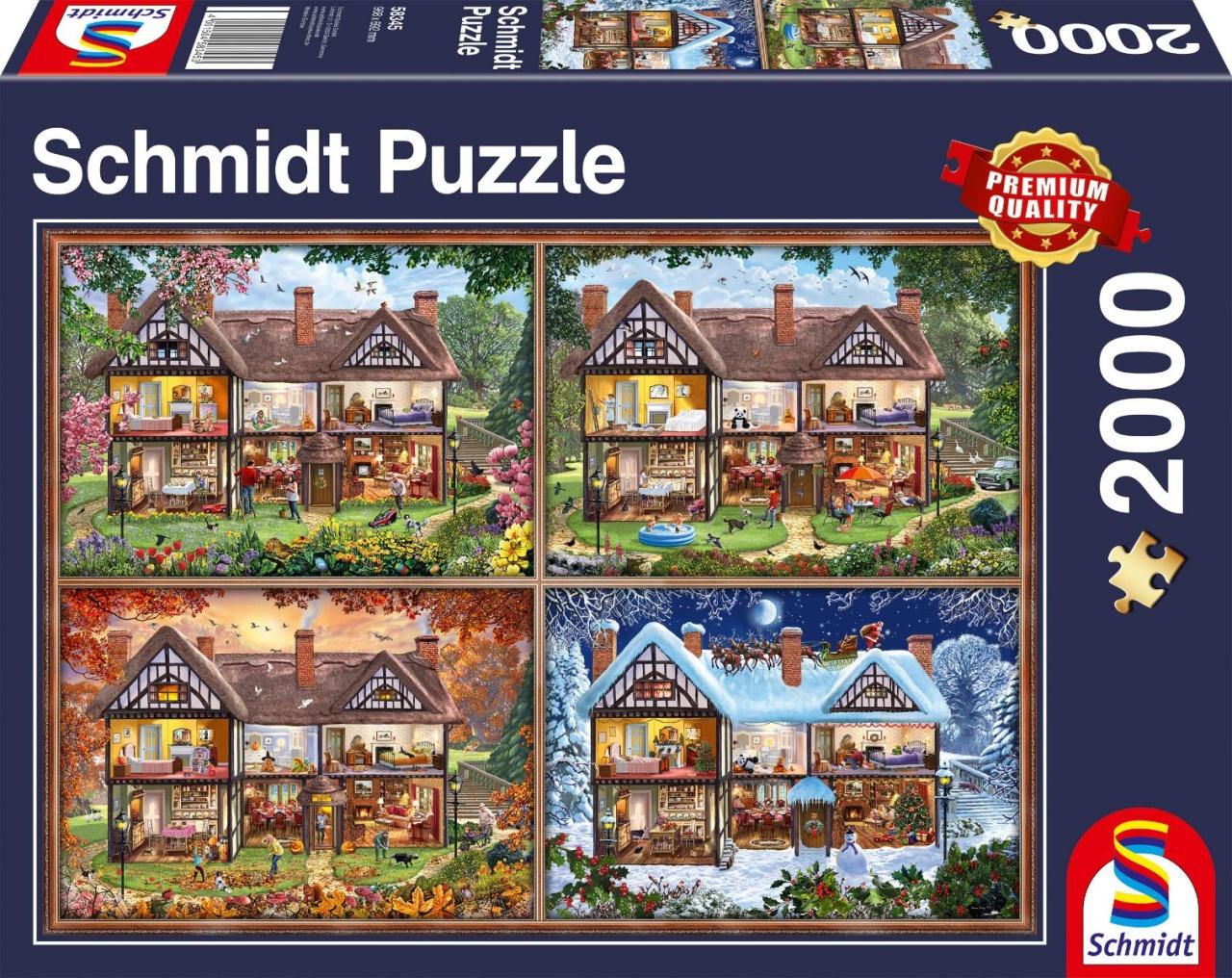 Schmidt Spiele Puzzle Jahreszeiten Haus 2000 Teile