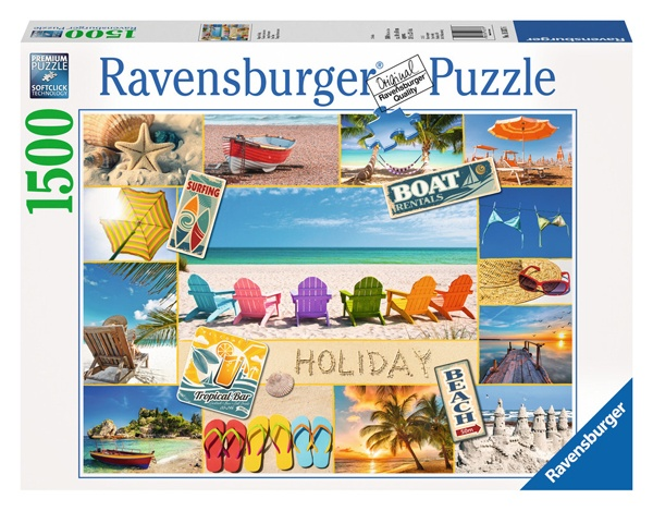 Ravensburger Puzzle Urlaubscollage  Happy Holiday 1500 Teile