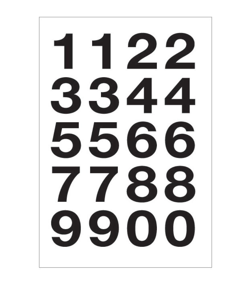 Etiketten schwarze Ziffern
