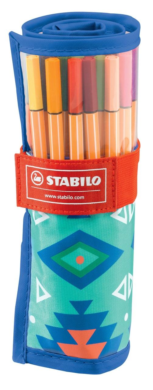 Stabilo Fasermaler pen 88 Festival Spirit Rollerset 25 Farbe
