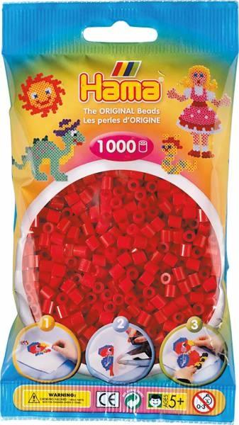 Hama Bügelperlen 1000 Stück mittelrot