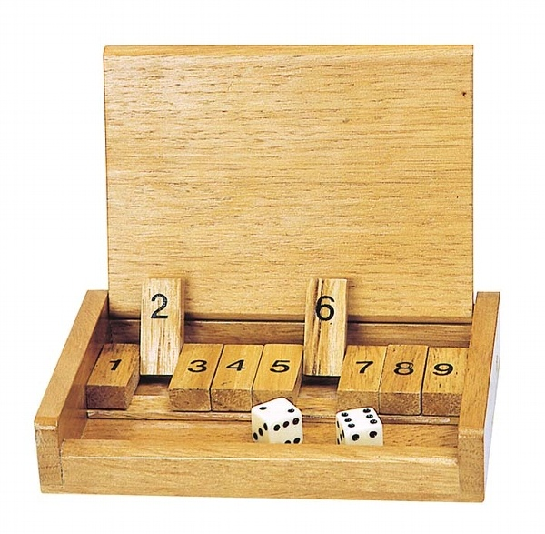 Würfelspiel Klappbrett Shut the box
