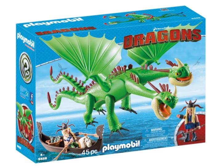 Playmobil 9458 Dragons Raffnuss und Taffnuss mit Kotz und