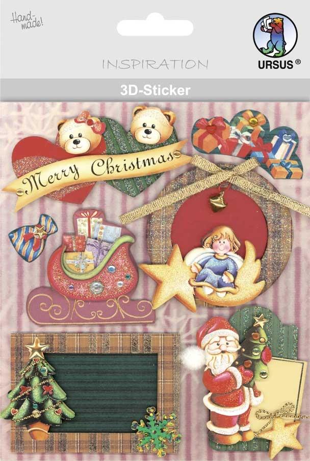 3-D Sticker Motiv 101 Weihnachten