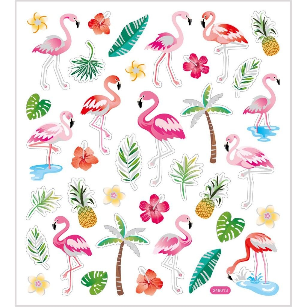 Bastelmaterial Sticker Flamingo