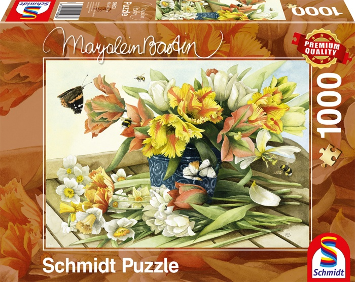 Schmidt Spiele Puzzle Marjolein Bastin Frühlingsblüher 1000