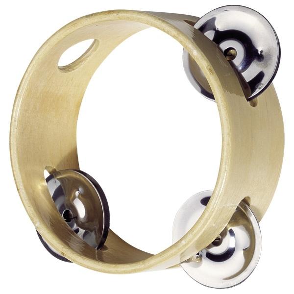 Tamburin mit 3 Schellen
