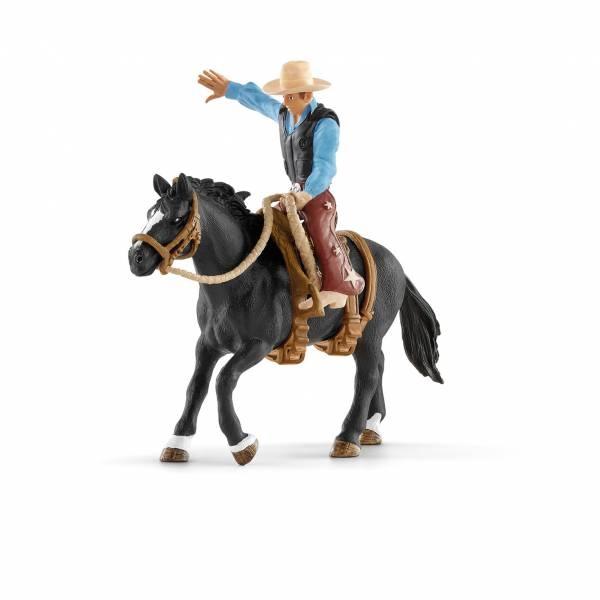 Schleich Farm World Wildpferdreiten mit Sattel und  Cowboy