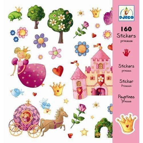Djeco Bastelset 160 Sticker Prinzessin