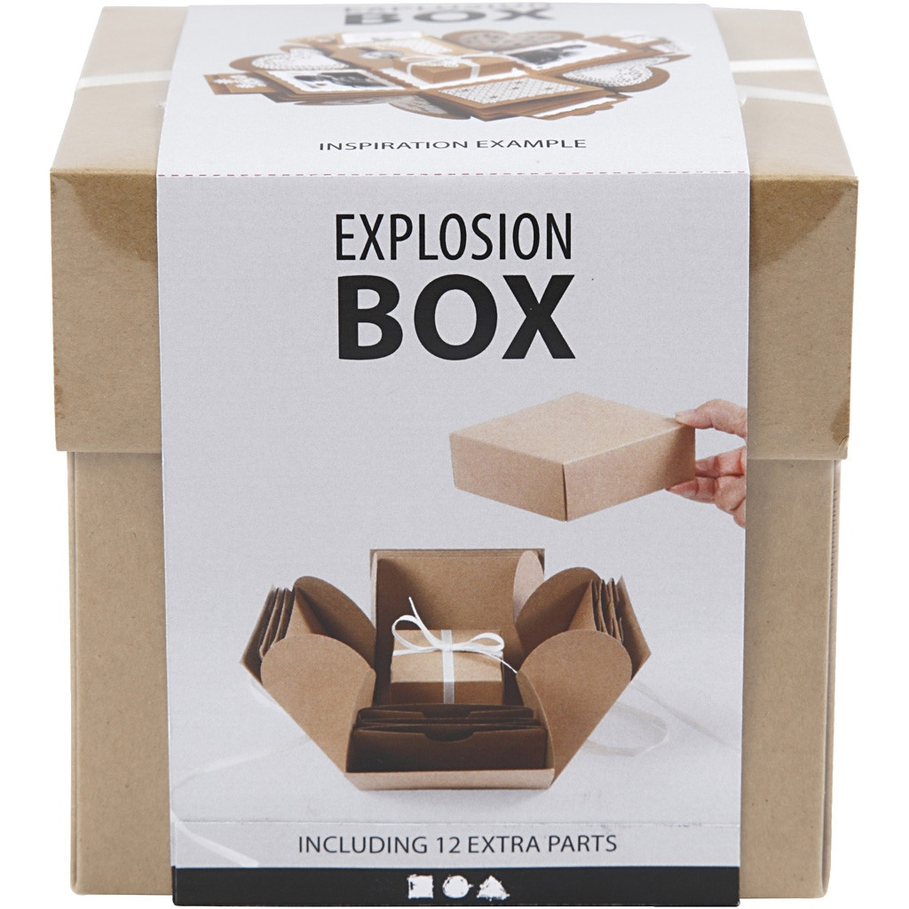 Geschenkbox Explosionsbox braun