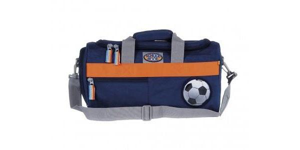 School-Mood Sporttasche Fußball marine blue