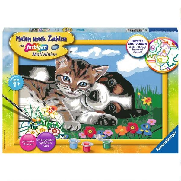 Ravensburger Malen nach Zahlen Tierfreundschaft