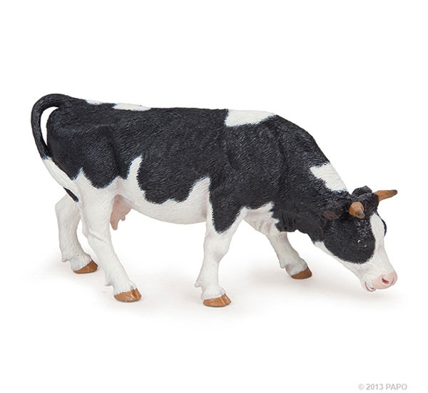 Papo 51150 grasende Holstein Kuh schwarz/weiß