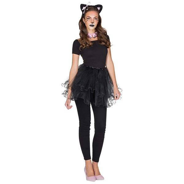 Kostüm-Zubehör Tüllrock schwarz