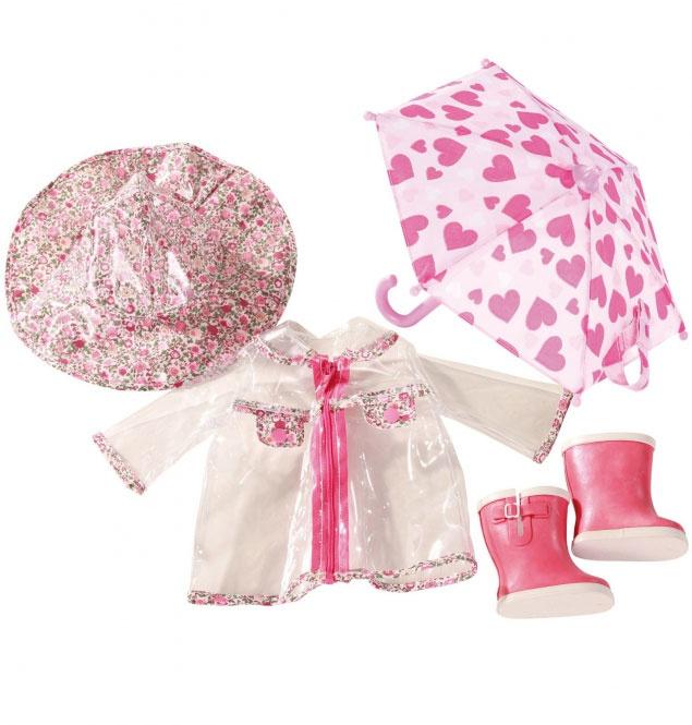 Götz Puppenkleidung Regenset mit Schirm