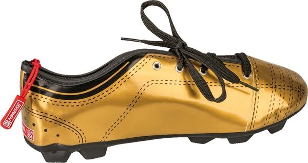 Brunnen Schlamper-Etui Kicker Schuh goldfarben