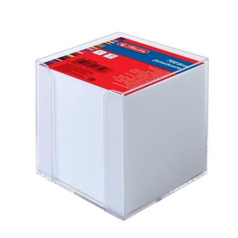 Herlitz Zettelklotz mit Box weiß 9 x 9 cm 700er