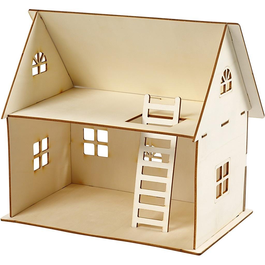 Puppenhaus zum Zusammenbauen Sperrholz