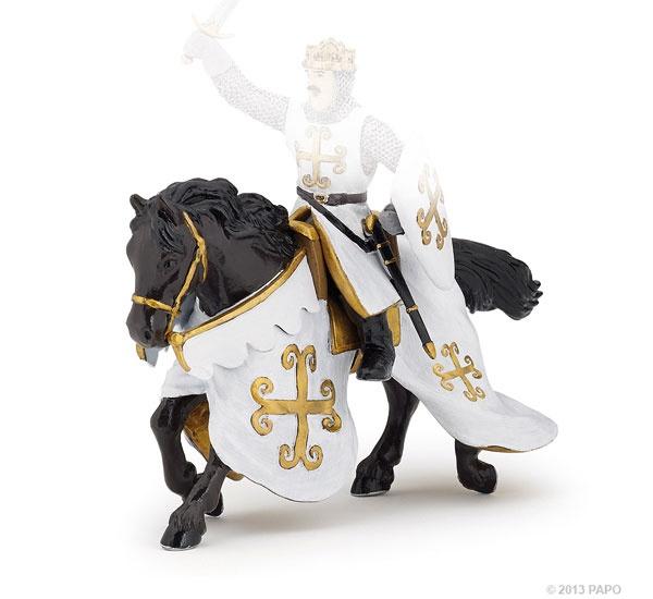 Papo 39770 Pferd des Ritters mit Kettenrüstung