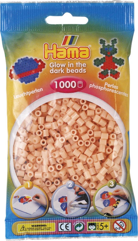 Hama Bügelperlen 1000 Stück leuchtrot
