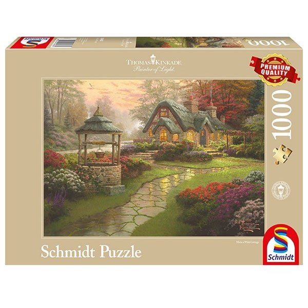 Puzzle Thomas Kinkade Haus mit Brunnen 1000 Teile