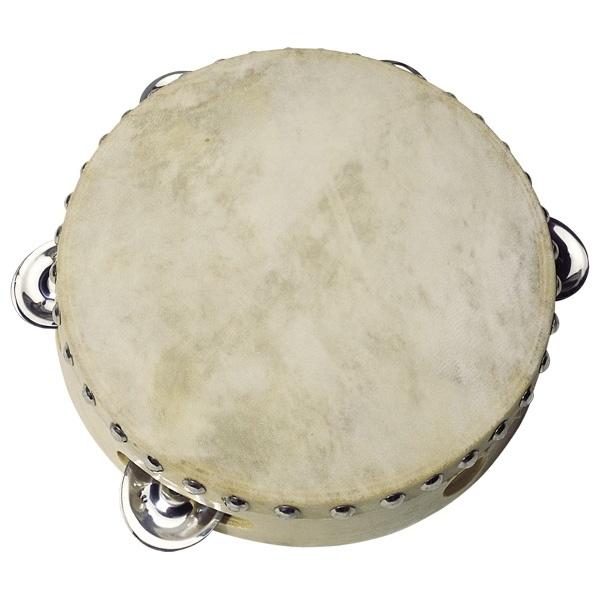 Tamburin mit 5 Schellen aus Holz