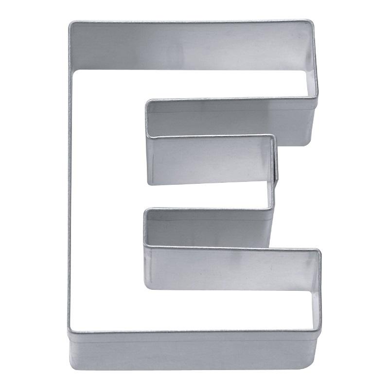 Ausstecher Buchstabe E aus Edelstahl