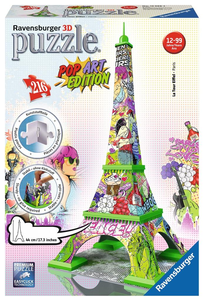 Ravensburger Puzzle 3D Eiffelturm Pop Art 216 Teile
