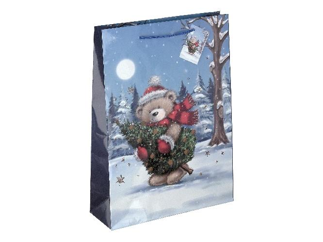 Geschenktüte Weihnachtsbär 25x34 cm